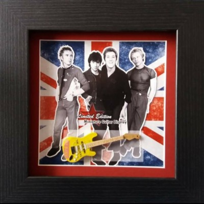 Sex Pistols Miniature Framed Guitar