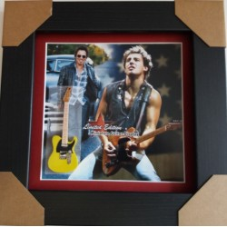 Bruce Springsteen Miniature Framed Guitar
