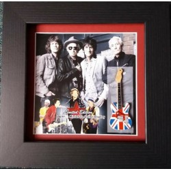 Rolling Stones Miniature Framed Guitar