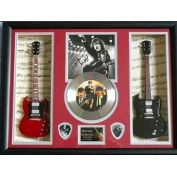 AC/DC Angus Young Double miniature replica guitar Presentation