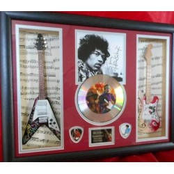 Jimi Hendrix Double miniature replica guitar Presentation