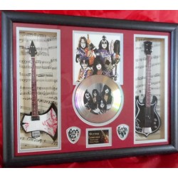 Kiss Double miniature replica guitar Presentation