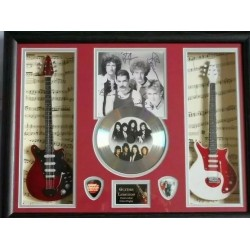 Queen Double miniature replica guitar Presentation