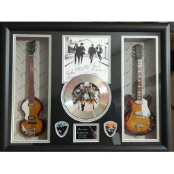 The Beatles Double miniature replica guitar Presentation