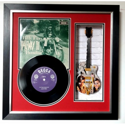 "Billy Fury GENUINE FRAMED RECORD, SLEEVE & 10"" GUITAR"