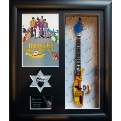 Beatles Yellow Submarine Framed Guitar & Plectrum Presentation
