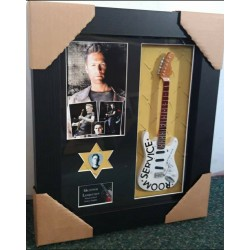 Bryan Adams Framed Guitar & Plectrum Presentation