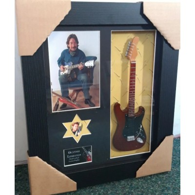 Chris Rea Framed Guitar & Plectrum Presentation