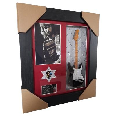 "Eric Clapton ""Blackie"" Framed Guitar & Plectrum Presentation"