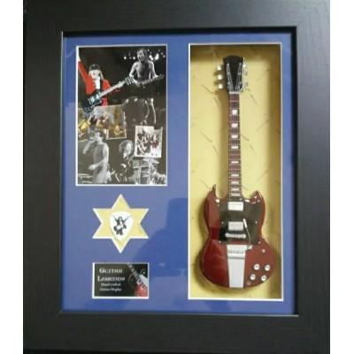 AC/DC Framed Guitar & Plectrum Presentation