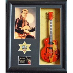 Eddie Cochran Framed Guitar & Plectrum Presentation