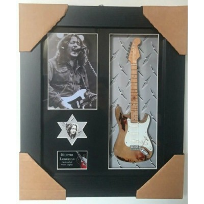 Rory Gallagher Framed Guitar & Plectrum Presentation