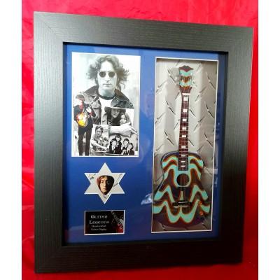 John Lennon  Framed Guitar & Plectrum Presentation