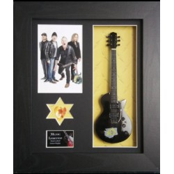 Metallica Framed Guitar & Plectrum Presentation