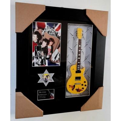 Sex Pistols Steve Jones Framed Guitar & Plectrum Presentation