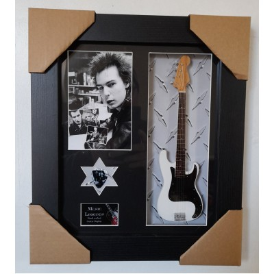 Sid Vicious Framed Guitar & Plectrum Presentation