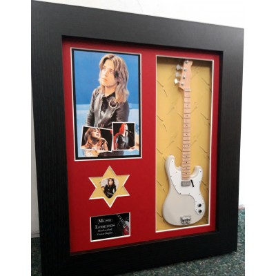 Suzi Quatro Framed Guitar & Plectrum Presentation