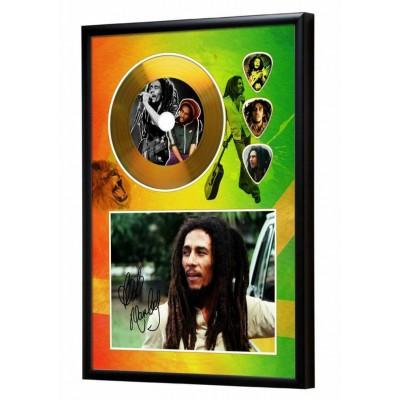 Bob Marley Gold Look CD & Plectrum Display
