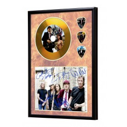AC/DC Gold Look CD & Plectrum Display