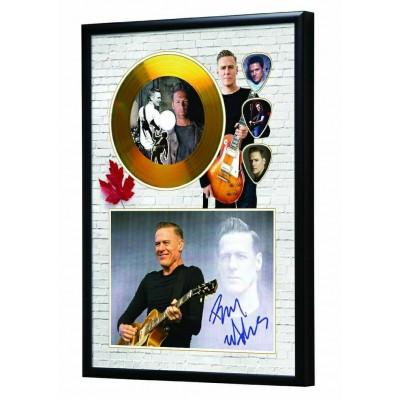 Bryan Adam's Gold Look CD & Plectrum Display