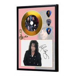 Alice Cooper Gold Look CD & Plectrum Display