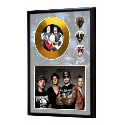 Avenged  Sevenfold Gold Look CD & Plectrum Display
