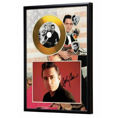 Johnny Cash Gold Look CD & Plectrum Display