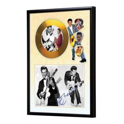 Chuck Berry Gold Look CD & Plectrum Display