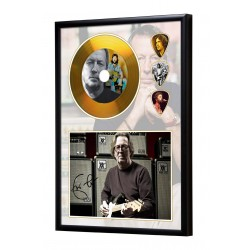 Eric Clapton Gold Look CD & Plectrum Display