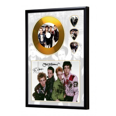 The Clash Gold Look CD & Plectrum Display