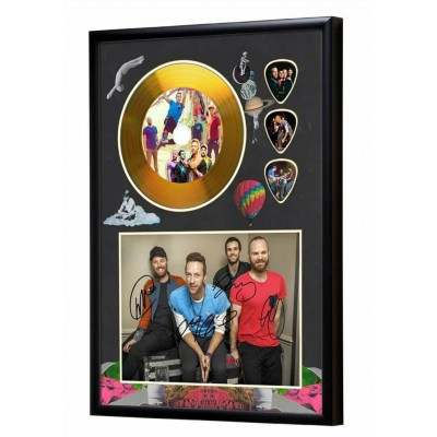 Coldplay Gold Look CD & Plectrum Display