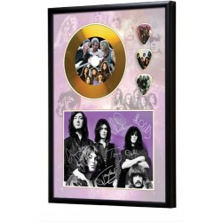 Deep Purple Gold Look CD & Plectrum Display