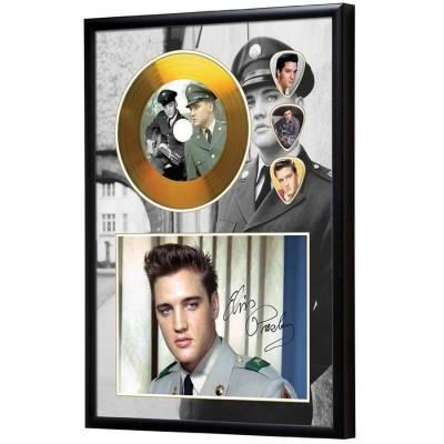 Elvis Presley Gold Look CD & Plectrum Display