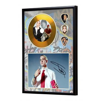 Eminem Gold Look CD & Plectrum Display