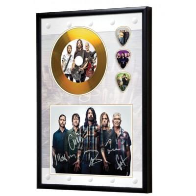 Foo Fighters Gold Look CD & Plectrum Display
