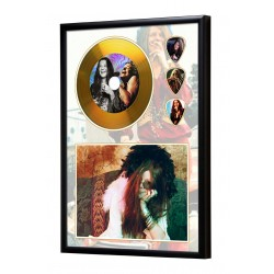Janis Joplin Gold Look CD & Plectrum Display