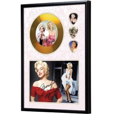 Marilyn Monroe Gold Look CD & Plectrum Display