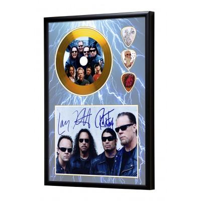 Metallica Gold Look CD & Plectrum Display
