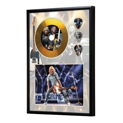Rick Parfitt Status Quo Gold Look CD & Plectrum Display