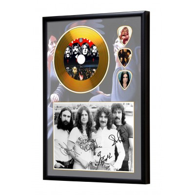 Black Sabbath Gold Look CD & Plectrum Display