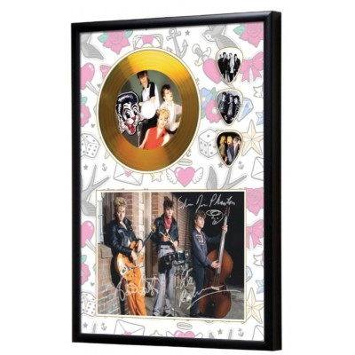 Stray Cats Gold Look CD & Plectrum Display