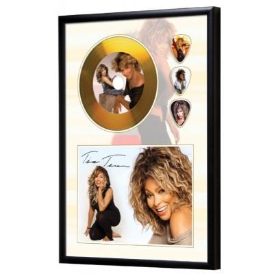 Tina Turner Gold Look CD & Plectrum Display