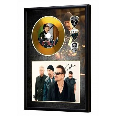 U2 Gold Look CD & Plectrum Display