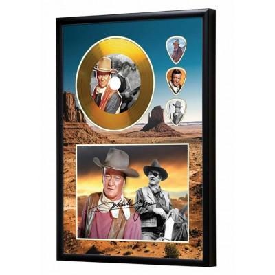 John Wayne Gold Look CD & Plectrum Display