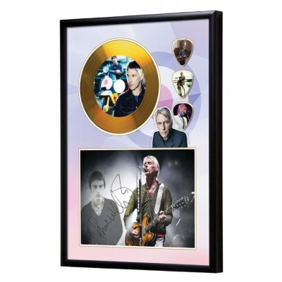 Paul Weller Gold Look CD & Plectrum Display