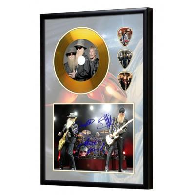 ZZ Top Gold Look CD & Plectrum Display