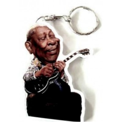 BB King Caricature Acrylic Key Ring