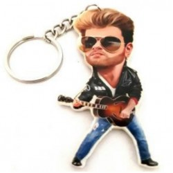 George Michael Caricature Acrylic Key Ring