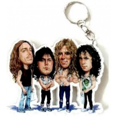 Metallica Caricature Acrylic Key Ring