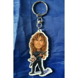 Megadeth Dave Mustaine Caricature Acrylic Key Ring